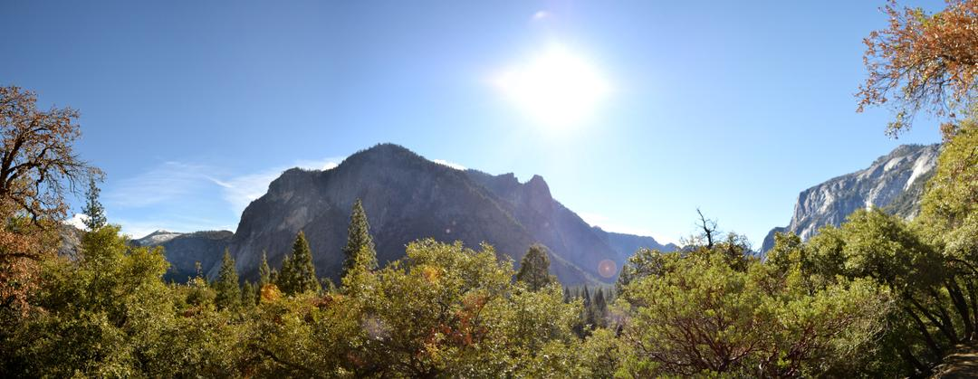 On the Lower Yosemite Falls Trail, Looking West