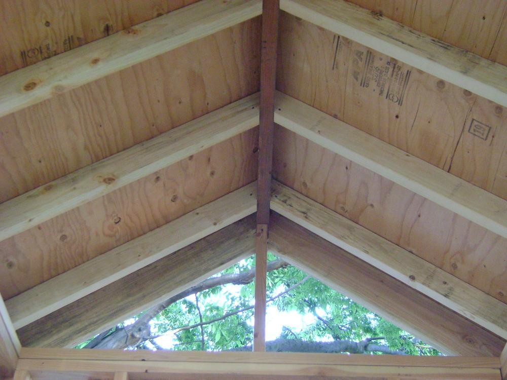 roof sheathed from the inside