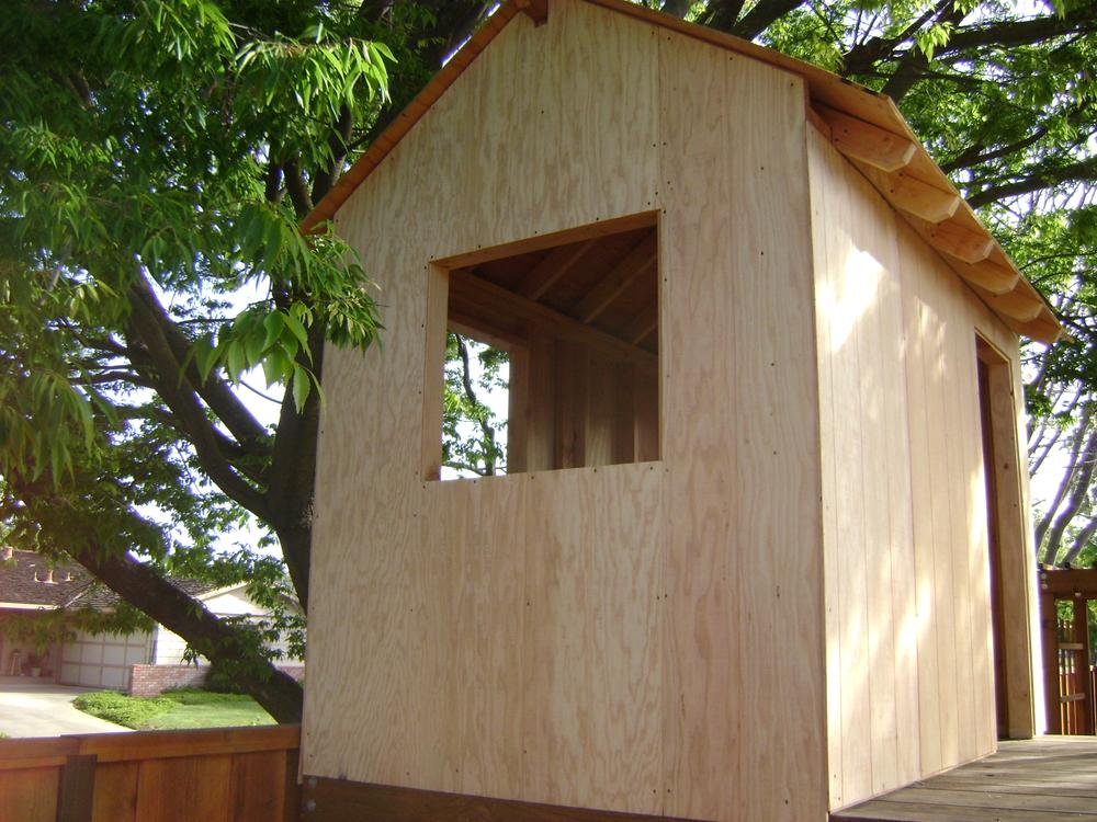 side shot of the playhouse